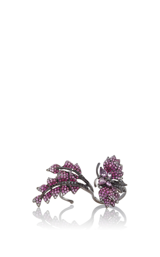 Medium wendy yue pink black diamond floating ring