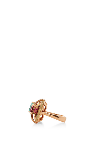 Citrine And Garnet Ring by WENDY YUE Now Available on Moda Operandi
