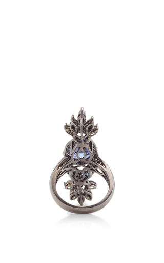 Blue Sapphire And Opal Ring by WENDY YUE Now Available on Moda Operandi