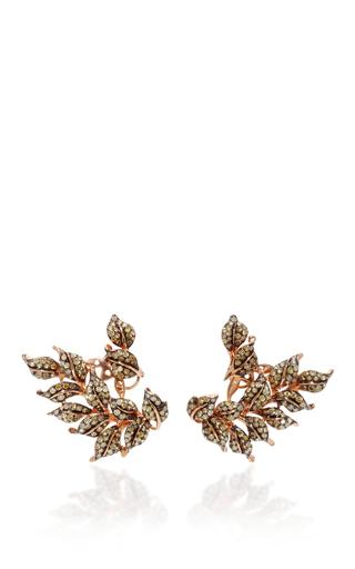 Medium wendy yue multi fancy diamond leaf earrings