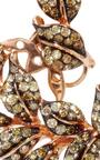 Fancy Diamond Leaf Earrings by WENDY YUE Now Available on Moda Operandi