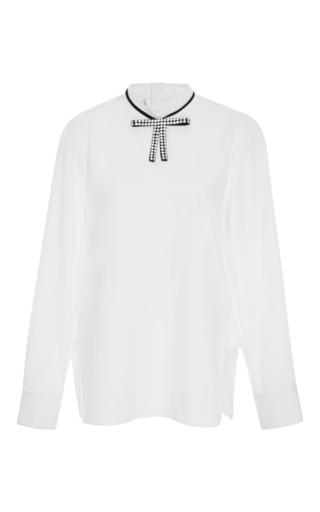 Medium marni white embellished bow blouse