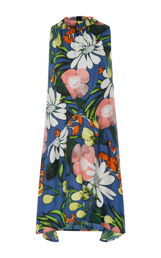 Medium marni blue sleeveless midi dress