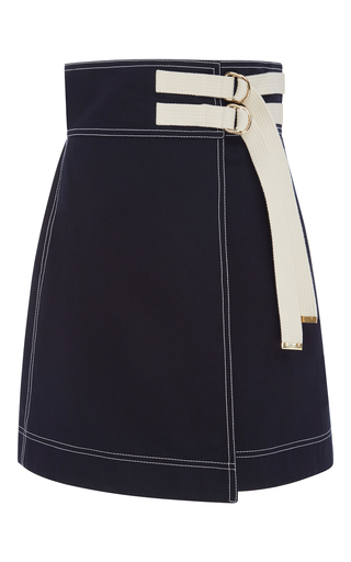 Medium marni navy wrap effect mini skirt