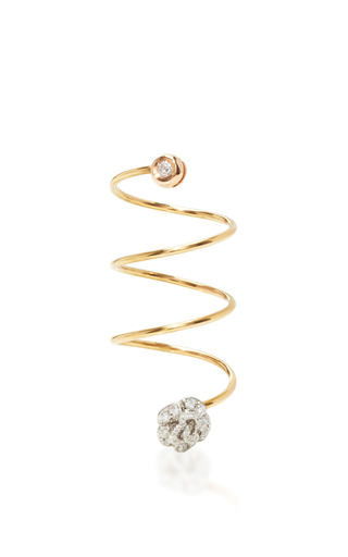 Medium pippo perez silver diamond frog ring