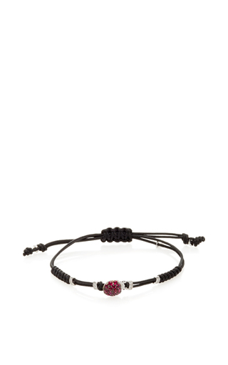 Medium pippo perez burgundy mini ladybug bracelet