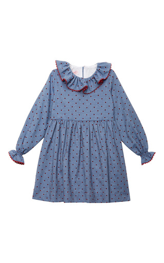 Medium la coqueta blue ruffleneck dress