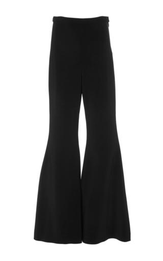 Medium rosetta getty black fitted straight flare pants