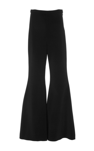 Medium rosetta getty black fitted straight flare pants