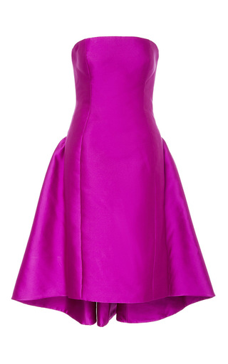 Medium elizabeth kennedy pink strapless cocktail dress with back bustle 2