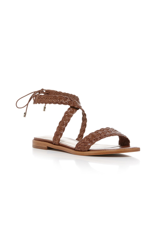 Medium alexandre birman tan pauline sandal