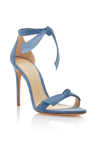 Medium alexandre birman light blue clarita suede sandals