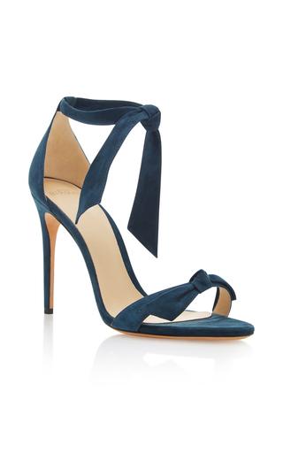 Medium alexandre birman blue clarita suede sandals 2