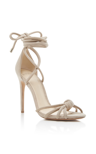 Medium alexandre birman light grey layla tie up sandals