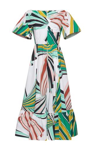 Medium emilio pucci print safari caped sleeve a line dress