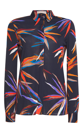 Medium emilio pucci print long sleeve button up shirt