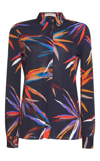 Medium emilio pucci print long sleeve button up shirt