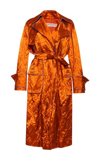 Medium emilio pucci bronze crinkle satin long coat
