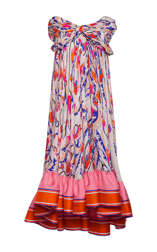 Medium emilio pucci multi off the shoulder a line dress