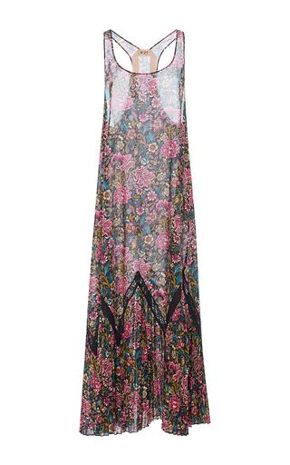 Medium no 21 floral pleated tank dress