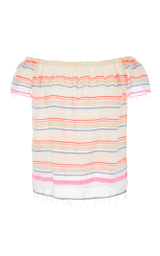Medium lemlem stripe hayat off the shoulder top
