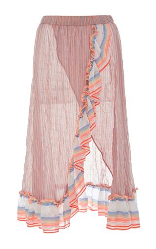 Medium lemlem multi afia ruffle wrap skirt