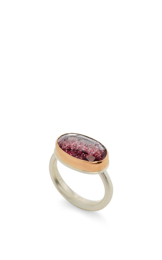 14 K Gold Seven Mineral Stone Ring by JAMIE JOSEPH Now Available on Moda Operandi