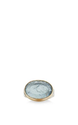 Medium jamie joseph blue 14k gold blue topaz ring