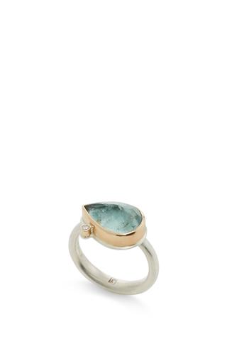 14 K Gold Moss Aquamarine Ring by JAMIE JOSEPH Now Available on Moda Operandi