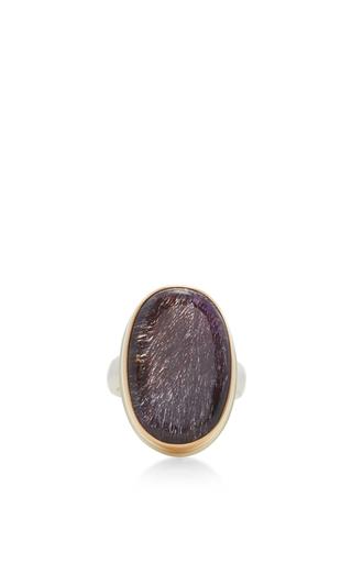 Medium jamie joseph purple 14k gold seven mineral stone ring 2