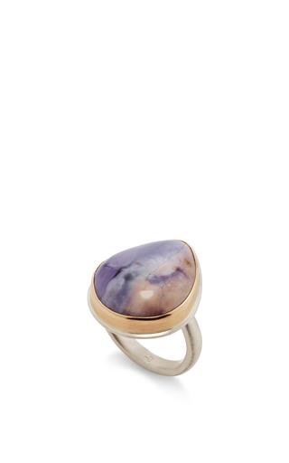 14 K Gold Vertical Flourite Ring by JAMIE JOSEPH Now Available on Moda Operandi