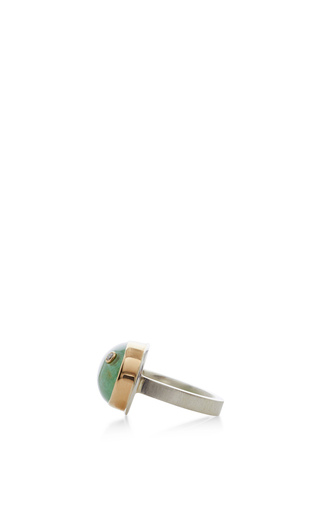 14 K Gold Siberian Emerald Ring by JAMIE JOSEPH Now Available on Moda Operandi