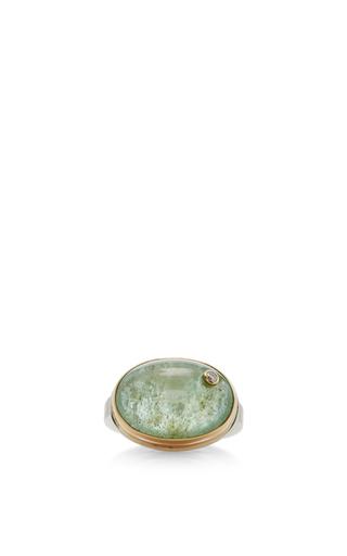Medium jamie joseph lime green 14k gold siberian emerald ring