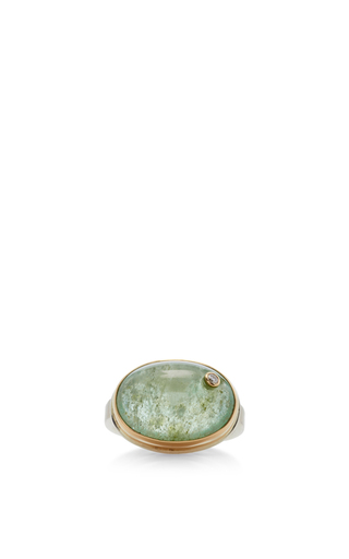 Medium jamie joseph lime green 14k gold siberian emerald ring