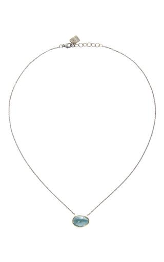 14 K Gold Moss Aquamarine Necklace by JAMIE JOSEPH Now Available on Moda Operandi