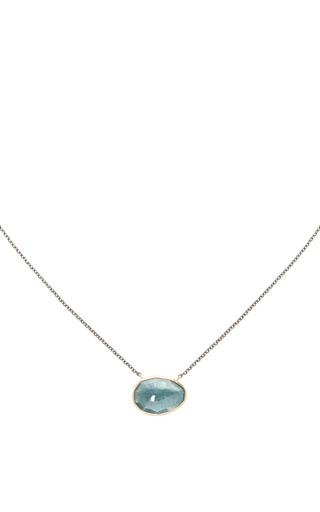 Medium jamie joseph green 14k gold moss aquamarine necklace