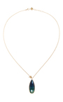 14 K Gold Sliding Rings Necklace by JAMIE JOSEPH Now Available on Moda Operandi