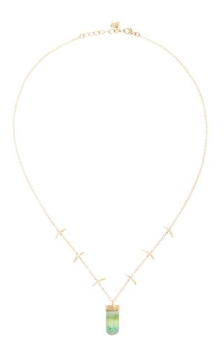 14 K Gold Stick Necklace by JAMIE JOSEPH Now Available on Moda Operandi