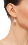 14 K Gold Rose Quartz Earrings by JAMIE JOSEPH Now Available on Moda Operandi
