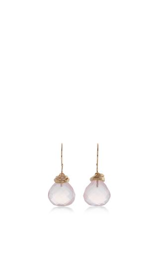 Medium jamie joseph light pink 14k gold rose quartz earrings