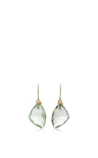 Medium jamie joseph green 14k gold mint quartz earrings