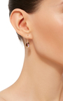 14 K Gold Small Watermelon Tourmaline Earrings by JAMIE JOSEPH Now Available on Moda Operandi