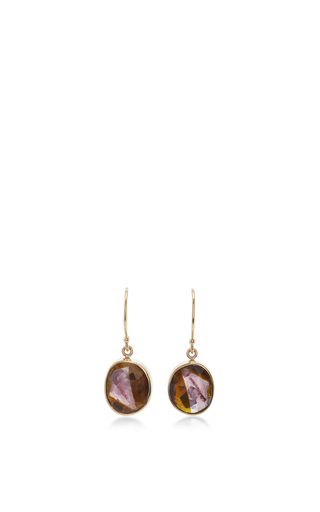Medium jamie joseph pink 14k gold small watermelon tourmaline earrings