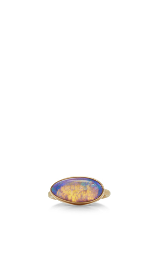 Medium jamie joseph purple 14k gold opal ring