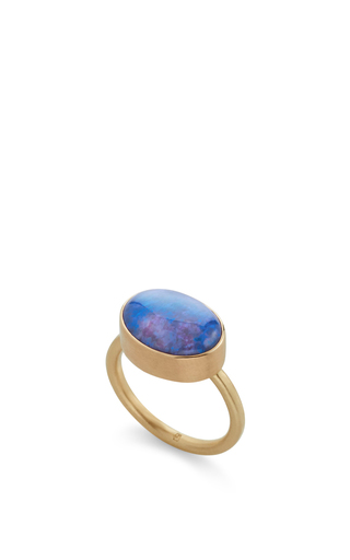 14 K Gold Opal Ring by JAMIE JOSEPH Now Available on Moda Operandi