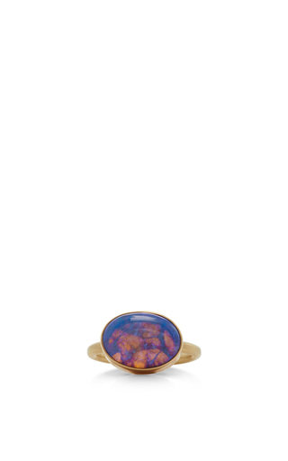 Medium jamie joseph blue 14k gold opal ring 2