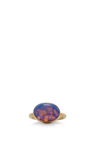 Medium jamie joseph blue 14k gold opal ring 2