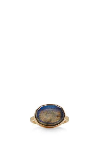 Medium jamie joseph blue 14k gold labradorite ring