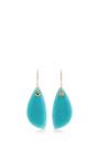 14 K Gold Sleeved Amazonite Earrings by JAMIE JOSEPH Now Available on Moda Operandi