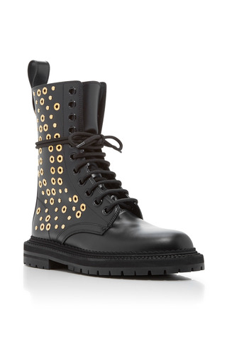 Medium burberry black aster eye lace up boots